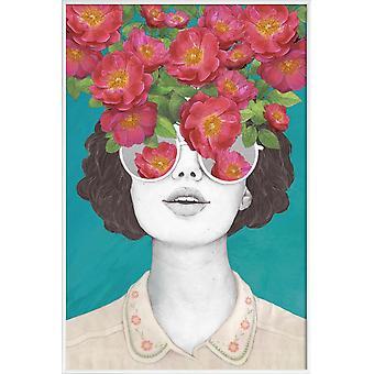 JUNIQE Print - Rose Tonad - Porträtt Affisch i Brunt & Orange