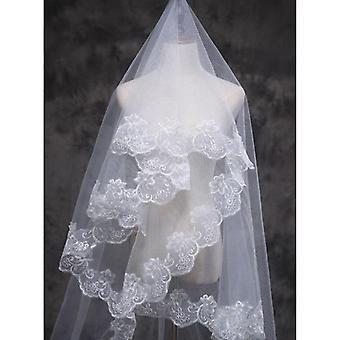 Frauen Braut Ultra lange Hochzeit Tüll Schleier