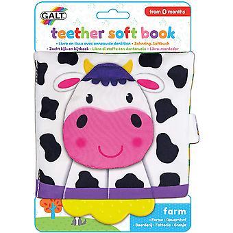 Bijtziekteer Soft Farm Book First Years Toy