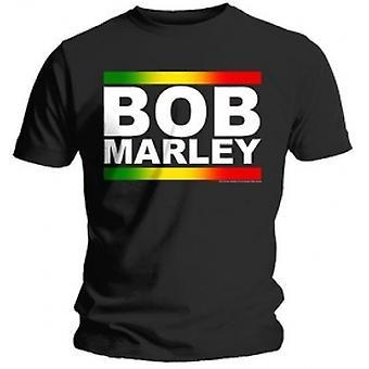 Bob Marley Rasta Band Block T Skjorta: Stor