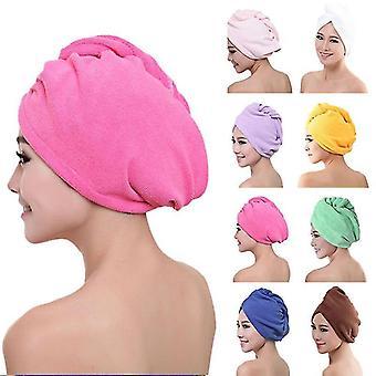 nuovi capelli rossi asciugatura rapida asciugamano da bagno donna doccia morbida turbante capo avvolgere gli strumenti da bagno sm18893