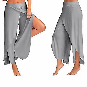 Super Moale bumbac Spandex Harem Stil Yoga Pilates Pantaloni, Gri - XXL