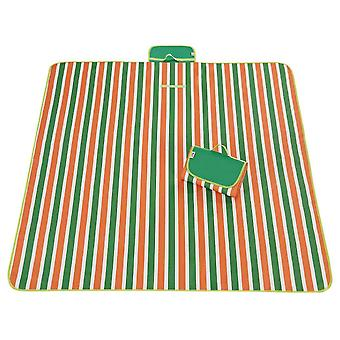 Orange and green 145x180cm outdoor moisture-proof waterproof oxford cloth picnic blanket mat striped park blanket necessary for picnic homi2821
