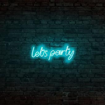 Lets Party - Blå blå vägglampa