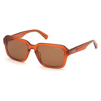 Men's Sunglasses Guess GU82245542E Brown Orange (ø 55 mm)