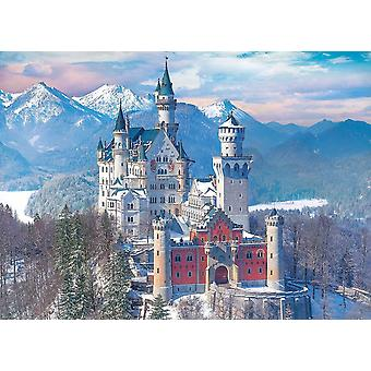 Eurografiikka Neuschwansteinin linna talvipalapelissä (1000 kappaletta)