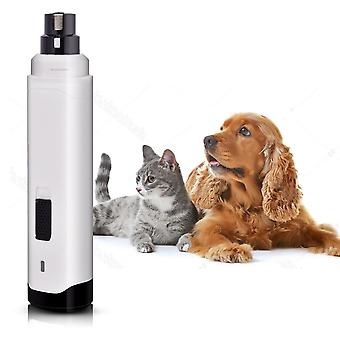 Electric Pet Nail Clipper USB Charging Cat Paws Grooming Trimmer Tools Low Noise Dog Products(D)