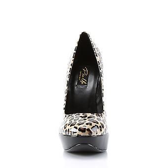 Pin Women's Shoes Up Tan Pu (Cheetah Print)