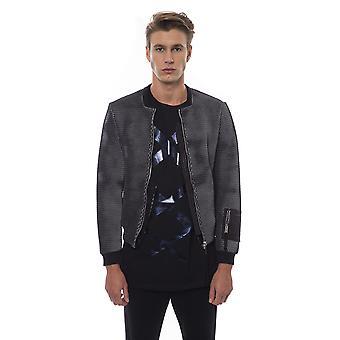 Black white jacket for men