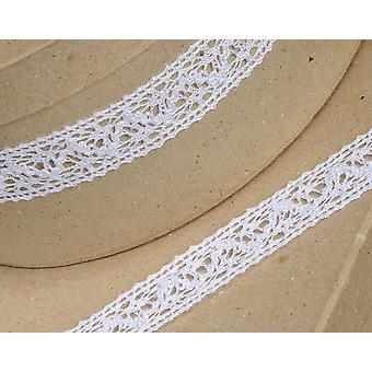 10m wit 25mm breed katoen kant rand lint voor ambachtelijke