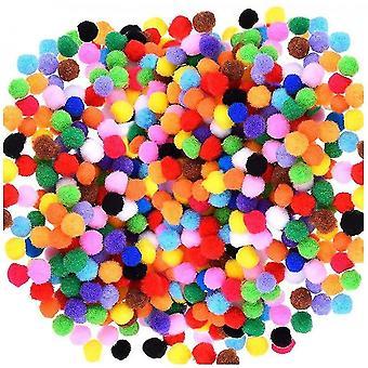 2000 Pcs 1cm Assorted Pompoms Multicolor Valentine Day Arts And Crafts Fuzzy Pom Poms Balls