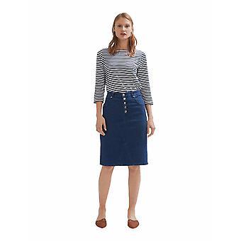 Shuuk Button Closure Denim Skirt for Women-Stylish Belt Mid-Rise Waist Skirt