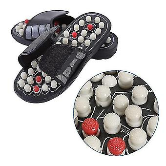 One Pair Foot Massage Shoes Rotating Foot Acupuncture Slipper Sandals Relaxation Stress Healthy For