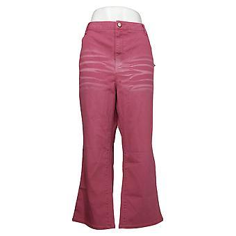 LOGO by Lori Goldstein Women's Jeans Plus Baby Bootcut Red A375409