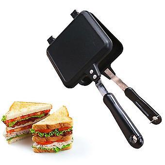 Gas Non Stick Iron Bread Toast Breakfast Machine Sandwich Maker Waffle Pancake  Pan|Waffle Makers