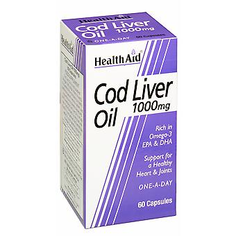 Health Aid Cod Liver Oil 1000mg, 60 Capsules