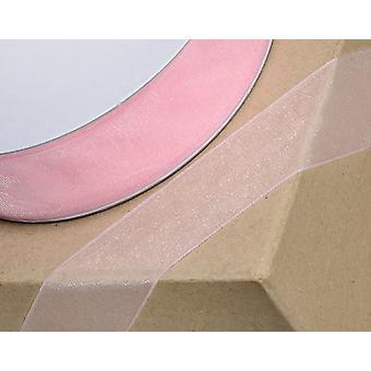 25m Baby Pink 38mm breites OrganzaBand
