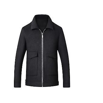 ז'קט עסקים עם חליפה רזה בחליפה רזה חורף עם תערובת צמר קצרה