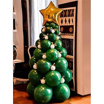 Christmas Green Party Balloon Set Combination, Christmas Party Decoration