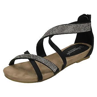 Las señoras Savannah cuña baja Diamante X correa sandalias F10595