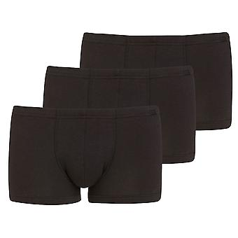 الفارس الرجال القطن-Lycell الملاكم الجذع الملابس الداخلية (حزمة من 3) XXL الأسود