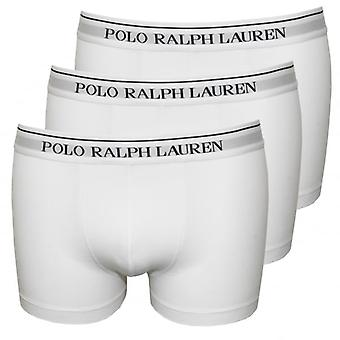 Polo Ralph Lauren Classic 3er Pack Boxer Trunks, weiss mit Navy