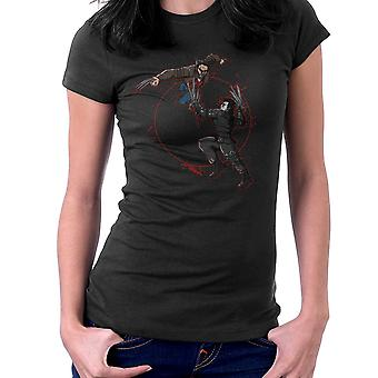 Blood Equinox Wolverine Vs Edward Scissorhands Women's T-Shirt