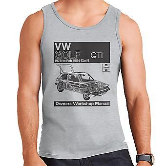 Haynes Workshop Manual VW Golf GTI 78 to 84 Black Men's Vest