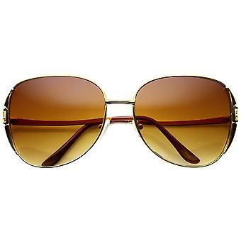 أزياء المعدن المتضخم مربعة مصمم النظارات الشمسية