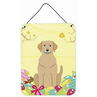 Påske egg gul Labrador veggen eller dør henger utskrifter