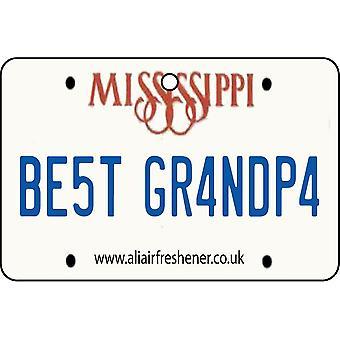 Mississippi - Best Grandpa License Plate Car Air Freshener