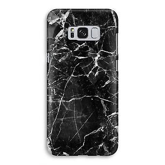 Samsung Galaxy S8 volledige Print kast (Glossy) - zwart marmer 2