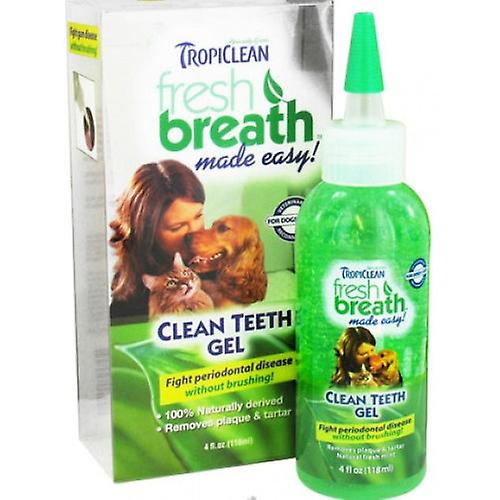 Tropiclean Fresh Breath Clean Teeth Gel For Dogs & Cats