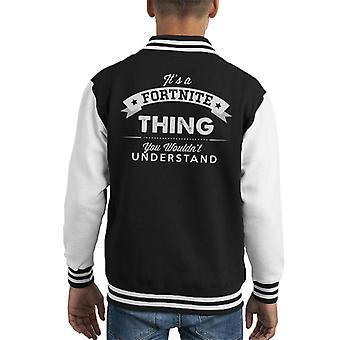 Sua una cosa Fortnite si Wouldnt capire Varsity Jacket capretto