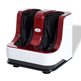HOMCOM Portable Vibration Heating Electric Kneading Leg Therapy Foot Massager (Red)