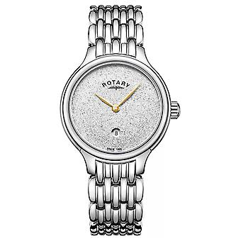 Roterende vrouwen Sparkle Glitter Dial Stainless Steel LB00405/33 Watch