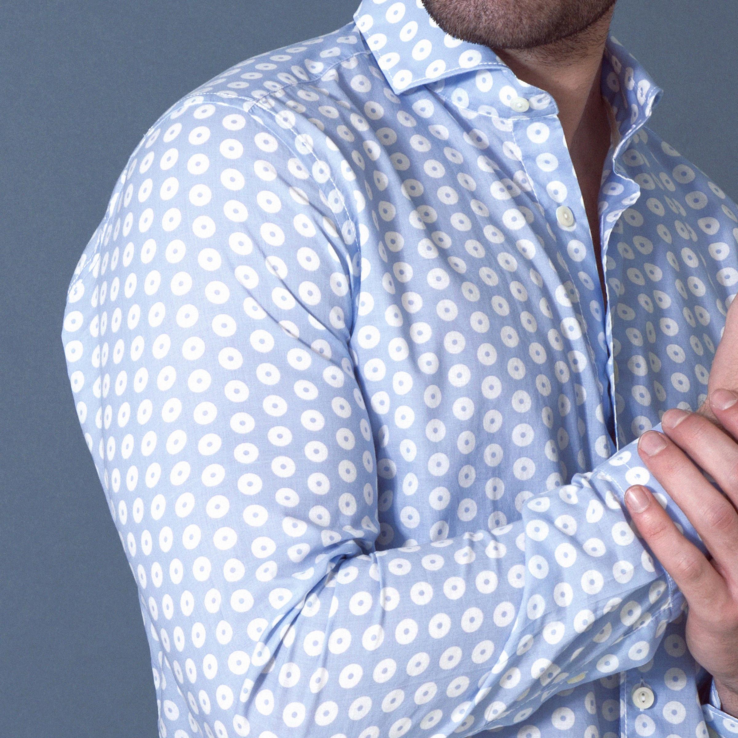 Fabio Giovanni Montatino Shirt - Mens High Qualität leichte Musselin Baumwollhemd