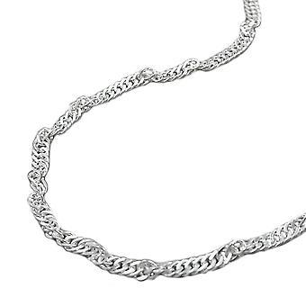 Bauchkette Bikinikette Singapurkette Körperkette 925 Silber diamantiert 100 cm