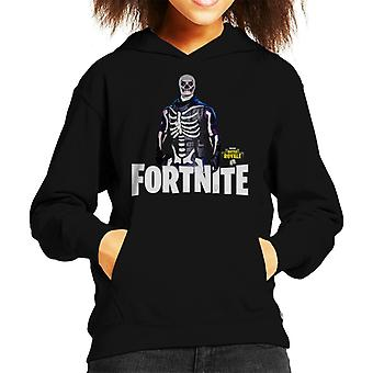Fortnite szkielet skóry dziecko jest z kapturem Bluza