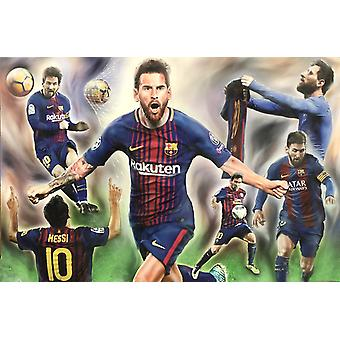 Lionel Messi Collage Poster Print