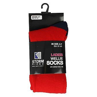 Ladies Storm Ridge Long Wellington Socks SK182