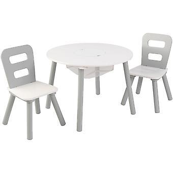 Kidkraft Round Storage Table & 2 Chair Set