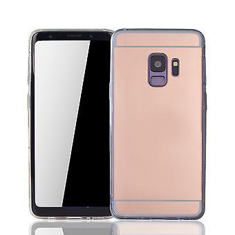 Samsung Galaxy S9 puhelimen tapauksessa peili pehmeä kotelo suojakansi ruusu kulta
