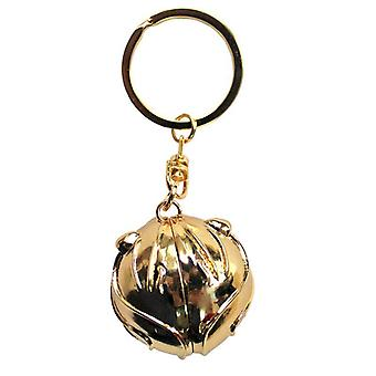 Harry Potter Keychain 3D zlatý Snitch klíčový řetízek, zlatá barva, kov.