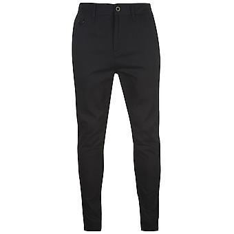 Tejido para hombre Airwalk correr fondos sudor pantalones Joggers Zip algodón acanalado tobillo