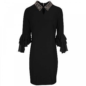 Frank Lyman Detachable Beaded Collar Dress