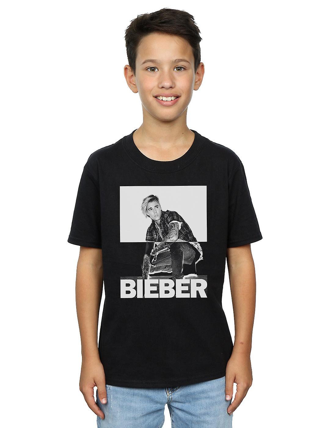 Justin Bieber Boys Split Contrast T-Shirt