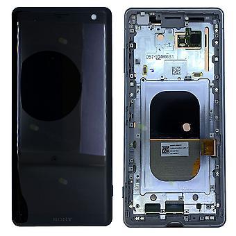 Sony Display LCD Komplett Einheit mit Rahmen für 1315-5027 Xperia XZ3 H8416 H9436 H9493 Weiß Silber Ersatzteil Neu
