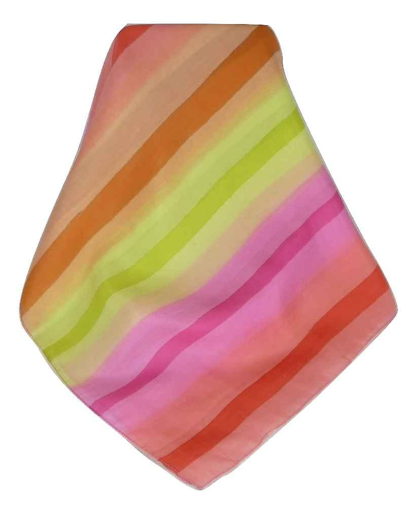 Mulberry Silk Classic Long Scarf Arore Rainbow Palette by Pashmina & Silk