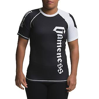 Gameness Ladies Short Sleeve Ranked Rash Guard Black
